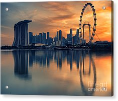 Landscape Of The Singapore Acrylic Print