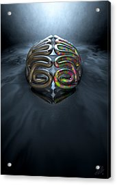 Left And Right Brain Concept Acrylic Print by Allan Swart