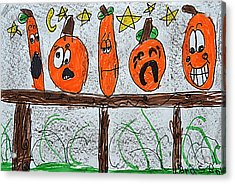 5 Little Pumpkins Acrylic Print