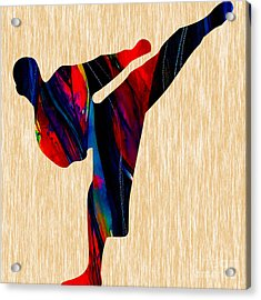Martial Arts Karate Acrylic Print by Marvin Blaine