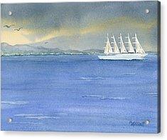 5 Masted Schooner Acrylic Print by Marsha Elliott