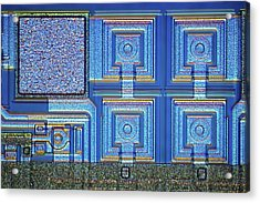 Microchip Surface Acrylic Print by Frank Fox