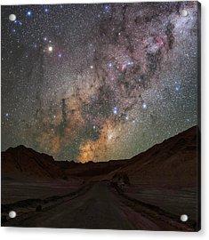 Milky Way Over The Atacama Desert Acrylic Print