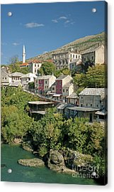 Mostar In Bosnia Herzegovina Acrylic Print