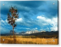 Mountains Landscape Acrylic Print by Michal Bednarek