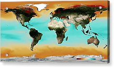 Ocean Carbonate Saturation Acrylic Print by Noaa