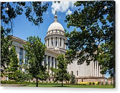 Oklahoma State Capital Acrylic Print by Doug Long