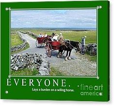 Old Irish Saying's Acrylic Print by Joe Cashin