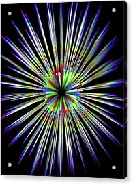 Optical Fibre Cable Acrylic Print by Alfred Pasieka