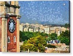 Old City Of Corfu Acrylic Print by George Atsametakis