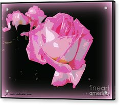 Acrylic Print featuring the photograph Pink Rose by Leanne Seymour