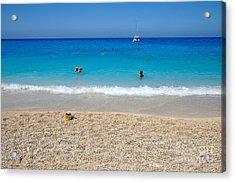 Porto Katsiki Beach Acrylic Print by George Atsametakis