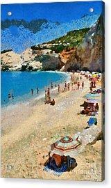 Porto Katsiki Beach In Lefkada Island Acrylic Print