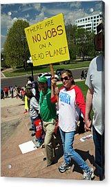 Protest Against Keystone Xl Pipeline Acrylic Print by Jim West