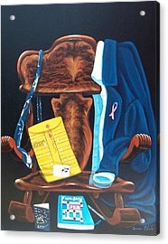 Acrylic Print featuring the painting Retiring Postal Worker by Susan Roberts