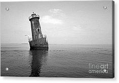 Sharps Island Lighthouse Acrylic Print by Skip Willits