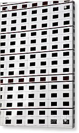 skyscraper windows background in Hong Kong  Acrylic Print by IB Photography