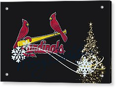 St Louis Cardinals Acrylic Print by Joe Hamilton