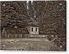 5 Star Barn Monochrome Acrylic Print by Steve Harrington