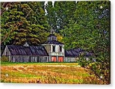 5 Star Barn Paint Filter Acrylic Print by Steve Harrington