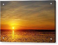 Acrylic Print featuring the photograph Sunset At Cheyenne Bottoms by Rob Graham