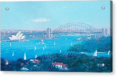 Sydney Harbour And The Opera House By Jan Matson Acrylic Print