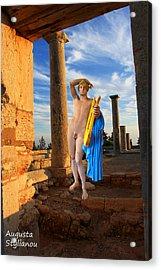 Temple Of Apollo  Acrylic Print by Augusta Stylianou