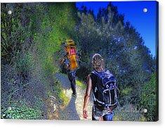 5 Terre Monterosso Trekking In Passeggiate A Levante Acrylic Print by Enrico Pelos