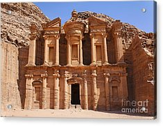 The Monastery At Petra In Jordan Acrylic Print by Robert Preston