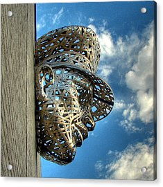 Thin Blue Line Acrylic Print by Farol Tomson