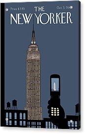 New Yorker October 3rd, 2005 Acrylic Print