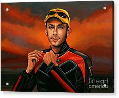 Valentino Rossi  Acrylic Print by Paul Meijering