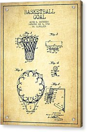Vintage Basketball Goal Patent From 1936 Acrylic Print