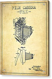 Vintage Film Camera Patent From 1948 Acrylic Print
