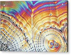 Vitamin C Birefringence Acrylic Print