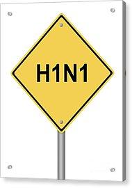 Warning Sign Acrylic Print by Henrik Lehnerer