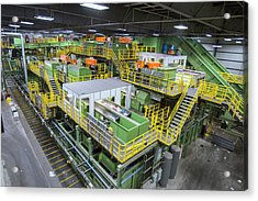 Waste Sorting At A Recycling Centre Acrylic Print