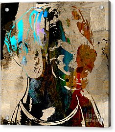 Weimaraner Acrylic Print by Marvin Blaine
