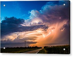 Acrylic Print featuring the photograph Wicked Good Nebraska Supercell by NebraskaSC