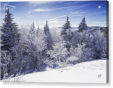 Winter Along The Highland Scenic Highway Acrylic Print by Thomas R Fletcher
