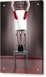 Woman On Chair Acrylic Print