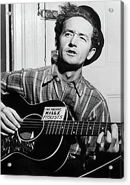 Woody Guthrie (1912-1967) Acrylic Print by Granger
