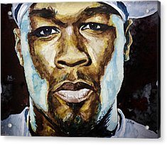 50 Cent Acrylic Print by Laur Iduc
