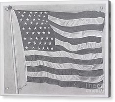 50 Stars 13 Stripes Acrylic Print by Wil Golden