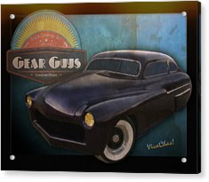 51 Mercury Gear Guys Car Club Alice Springs Nt Acrylic Print