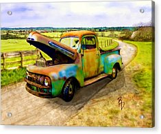 52 Ford F3 Pick-up Truck Acrylic Print