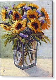 Acrylic Print featuring the painting Summer Bouquet 4 by Konnie Kim