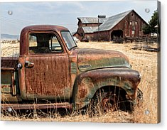 '54 Chevy Put Out To Pasture Acrylic Print