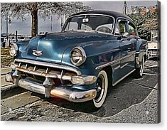 '54 Chevy Acrylic Print by Victor Montgomery