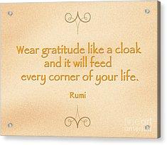54- Rumi Acrylic Print by Joseph Keane